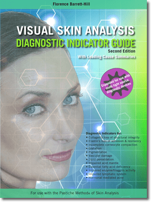 The Visual Skin Analysis Diagnostic Indicator Guide is another quick reference guide by Florence Barrett-Hill to help you learn the art of professional skin analysis, and communicate your findings with your clients.